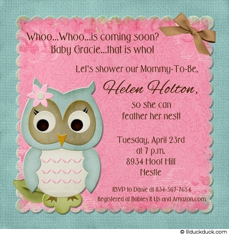 Baby Owl Shower Invitation Party Ideas Pinterest