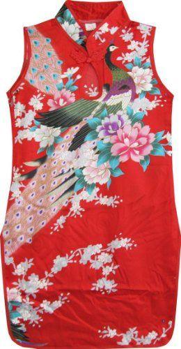 CT94 Girls Dress Red Peacock Silk Cheongsam Chinese Children Clothing Size 6 Sunny Fashion,http://www.amazon.com/dp/B00BO10Z68/ref=cm_sw_r_pi_dp_TLfDsb013V9QMDAN