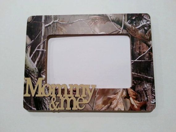 Mommy and Me RealTree Camo Picture Frame by AlbonsBoutique on Etsy, $14.00 #realtree #camo #hunting #country