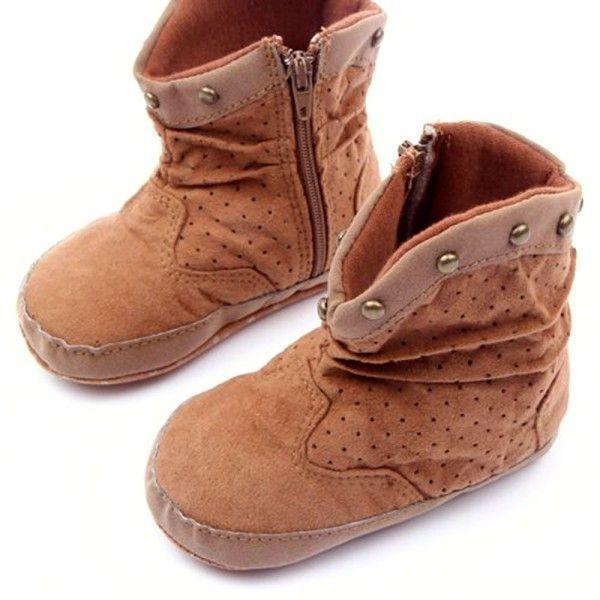 0 - 12 м мода заклепки мальчик девушки сапоги из замши молния зимой теплый пинетки для малышей обувь п . я . бесплатная доставка