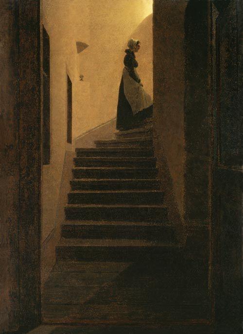 Caspar David Friedrich Caroline on the stairs