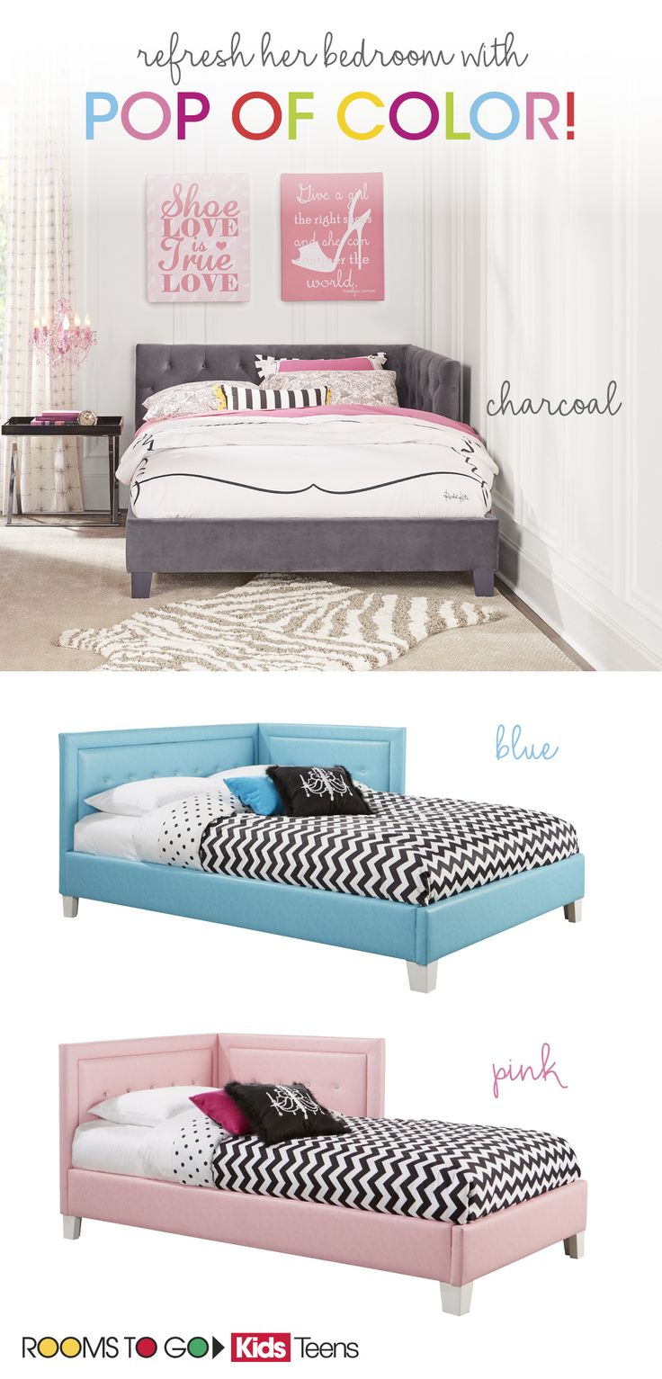 Make Your Little Girlu0027s Room POP! Colorful Beds Add The Perfect Pop Of Color  To