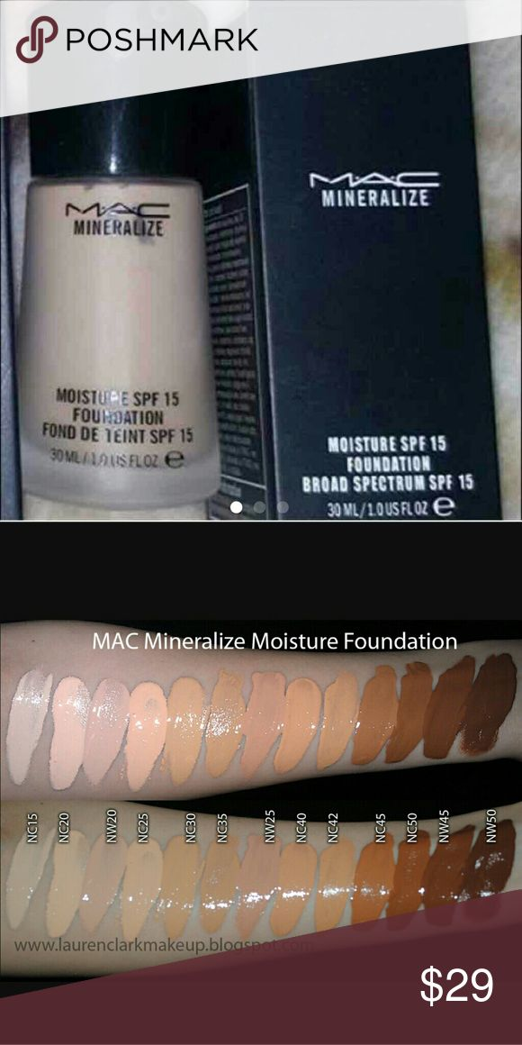 MAC NC35 MINERALIZE LIQUID FOUNDATION MAC NC35 MINERALIZE LIQUID FOUNDATION MAC Cosmetics Makeup Foundation
