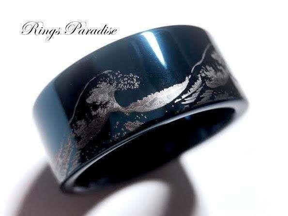 Coastal wedding rings