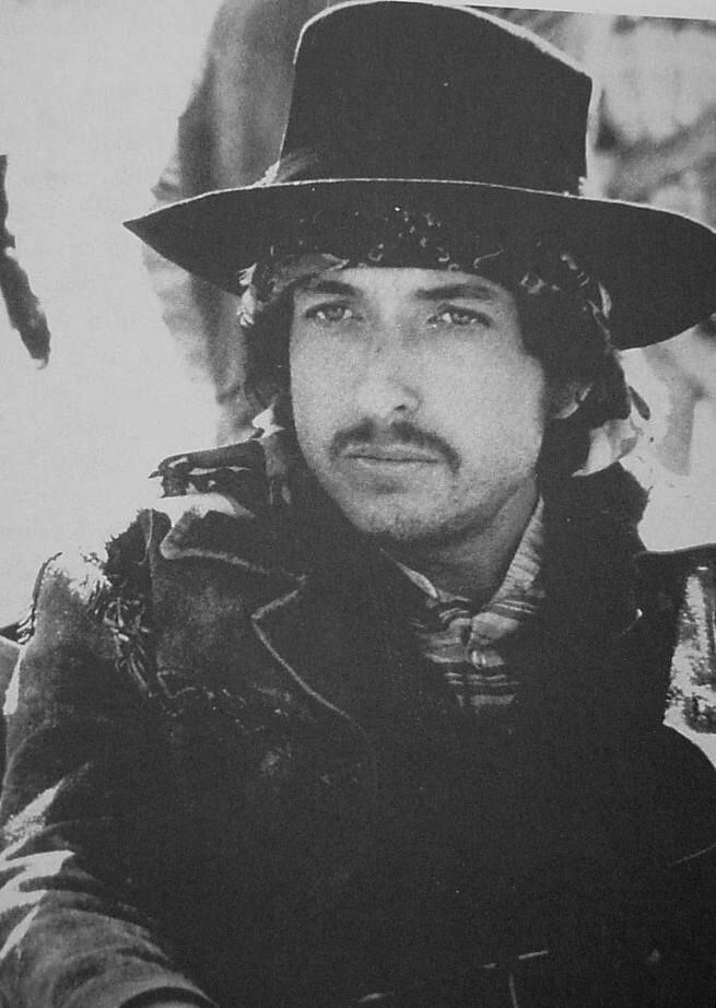 """Bob Dylan as """"Alias"""" in the movie """"Pat Garrett and Billy the kid"""" 1973"""