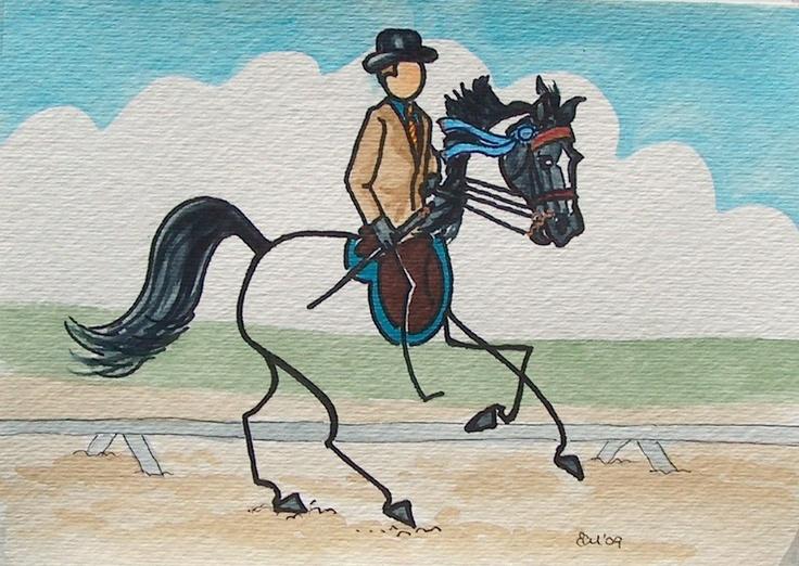 haha! American Saddlebred artwork.Horses, Saddlebred Artworksometim, American Saddlebred, Saddlebred Artworks Sometimes