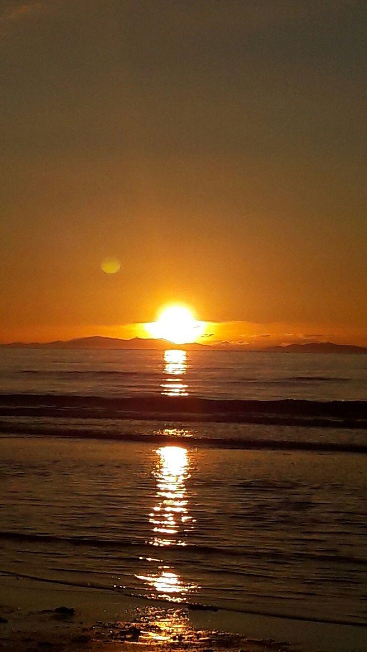 Summer sunset Paraparaumu beach
