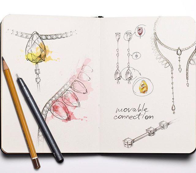by @malenka_ira https://www.behance.net/gallery/41695673/jewelry-set-Aurora