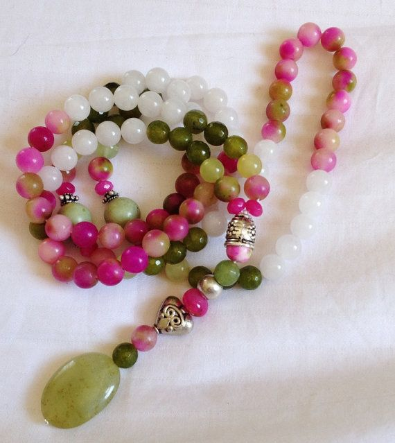 Turkish Islamic 99 Prayer Beads, Tesbih, Tasbih, Misbaha, Sibha, Sufi, Worry Beads, Stress, love, peace, harmony, Kunzite on Etsy, $45.00