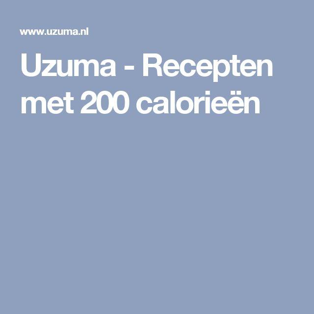 Uzuma - Recepten met 200 calorieën