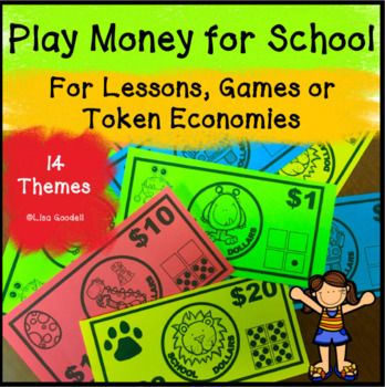 Play money for behavior management, games or token economies, Class Dojo. Comes in $1, $5, $10 and $20 bills. Click to see all 14 styles.