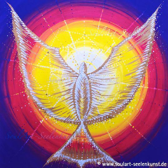 "SoulArt Mandala ""Hingabe"" #mandala #soulart #bird #angel #sun #spiral #energiebild http://www.soulart-mandala.de/?s=Hingabe&post_type=product"