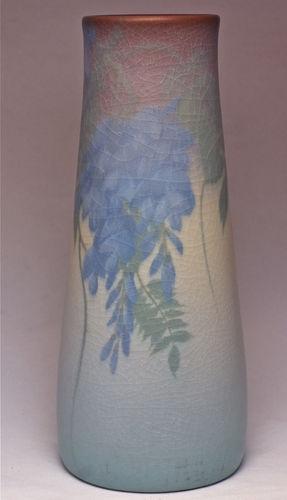 "ROOKWOOD 9 5/8""  VELLUM WISTERIA EDWARD DIERS Artist Marked Circa 1912"