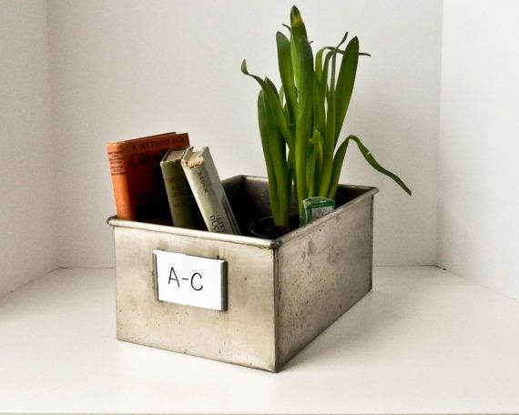 stainless steel industrial box metal storage by beejaykay on etsy - Metal Storage Containers