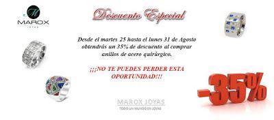 Marox Joyas: DESCUENTO ESPECIAL DE 35 % AL COMPRAR ANILLOS DE A...