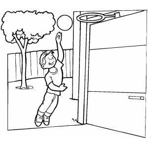 yard work coloring pages - photo#25