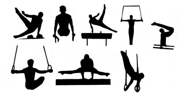Male Gymnast Gymnastics Silhouette Die Cut Files by AEROLeotards