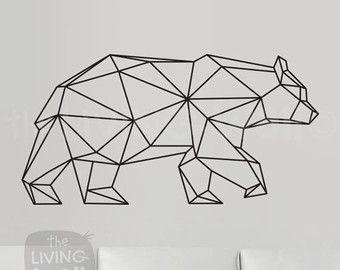 Geometrische Hirsch Kopf geometrische Tier Sticker von LivingWall