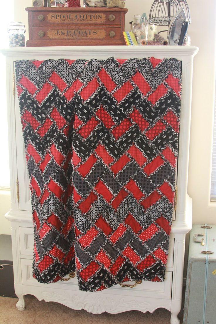Shower curtain quilt pattern - Houndstooth Quilt Pattern Zayden S Zig Zag Chevron Rag Quilt