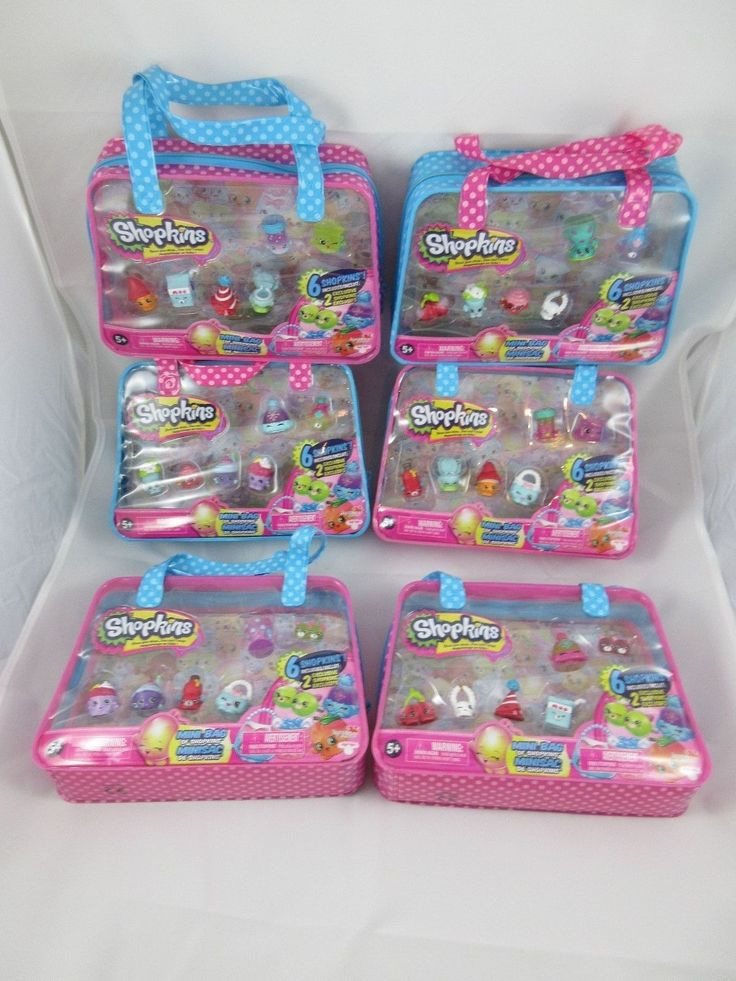 Complete Set of 6 Shopkins Season 4 Mini Bags 2 Exclusives per Bag (ALL 12)