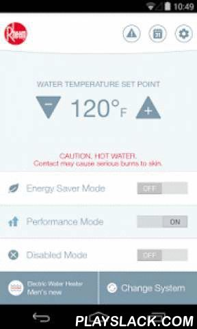 EcoNet  Android App - playslack.com ,  The Rheem EcoNet app efficiently manages up to 65 percent of a home's energy consumption. With the app, you can adjust the temperature of your high-efficiency Rheem water heater, air conditioner or gas furnace from your Android phone or tablet . You can also program schedules for your heating and cooling systems and set your water heater to Vacation Mode, which will help prevent your units from running at full blast when no one is home—saving you energy…
