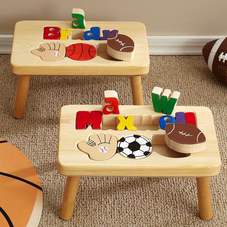 Puzzle Step Stool Sports Design