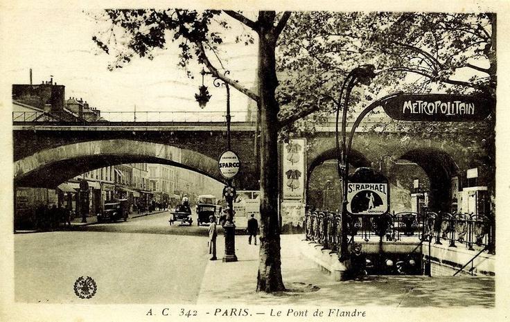 Station du Métro Pont de Flandres / Paris 19 Paris