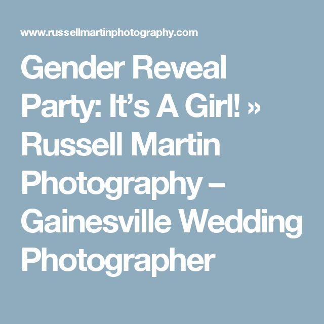 Gender Reveal Party: It's A Girl! » Russell Martin Photography – Gainesville Wedding Photographer