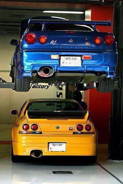 Nissan Skyline GTR R34 & R33