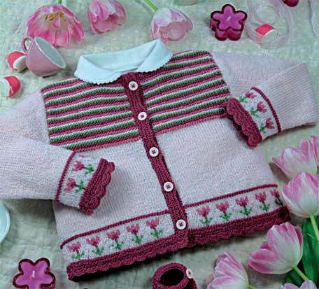 Explication gilet dragée : Laine › Fiches explications layette / enfants › Catalogues › Laines Bouton d'Or