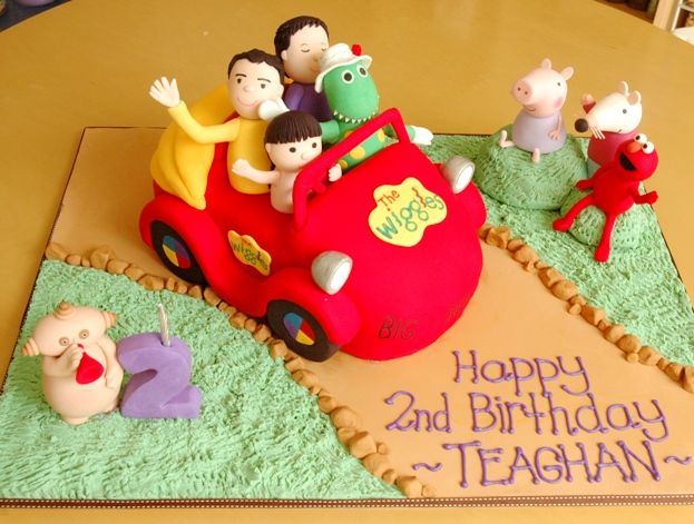 Wiggles Big Red Car Cake and friends
