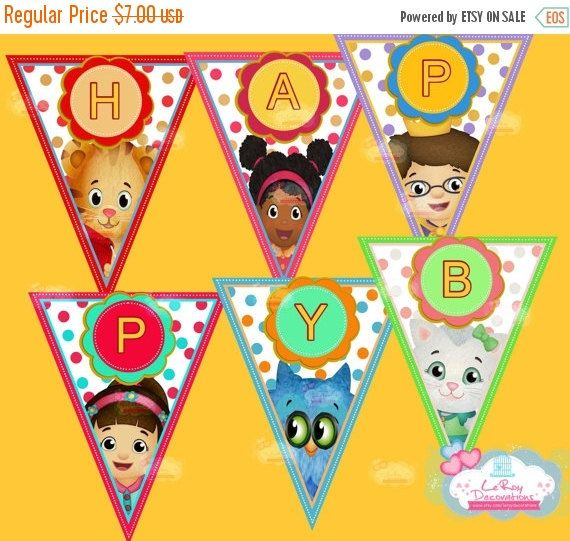 SUR la banderole d'anniversaire vente Daniel par LeRoyDecorations