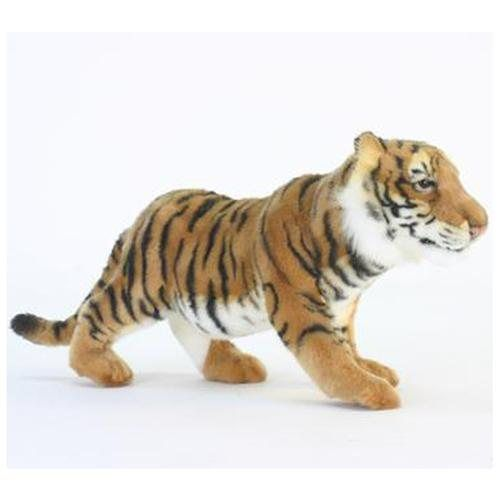 Standing Tiger Cub Toy Reproduction by Hansa, 18'' long