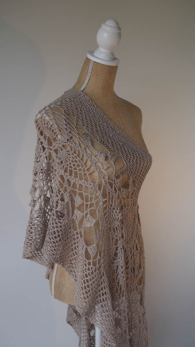 Pineapple Pashmina in Linen – Jenny King Designs