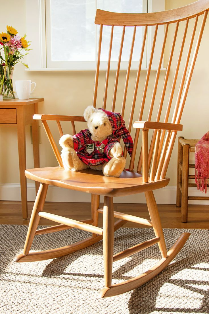 Superior Windsor Rocking Chair, Real Hardwood Furniture Made In Vermont.