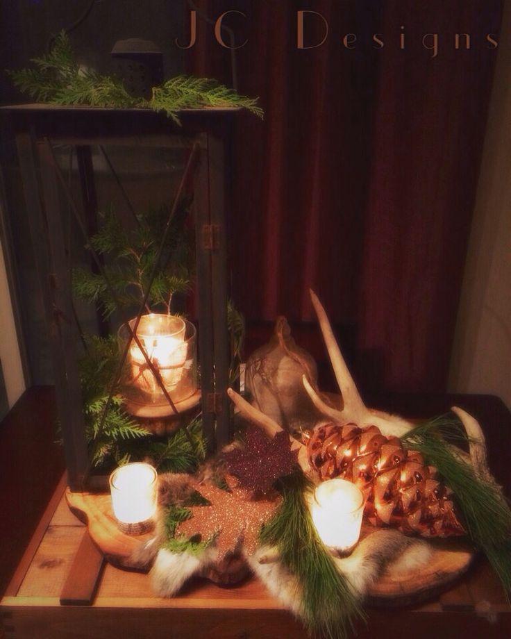 Xmas lantern& antler