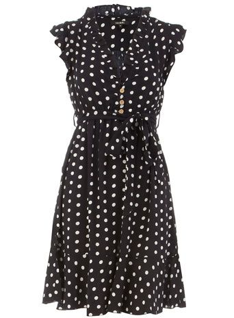 Dorothy Perkins  Navy polka dot dress $27--I really want this but they don't have my size!!  :(