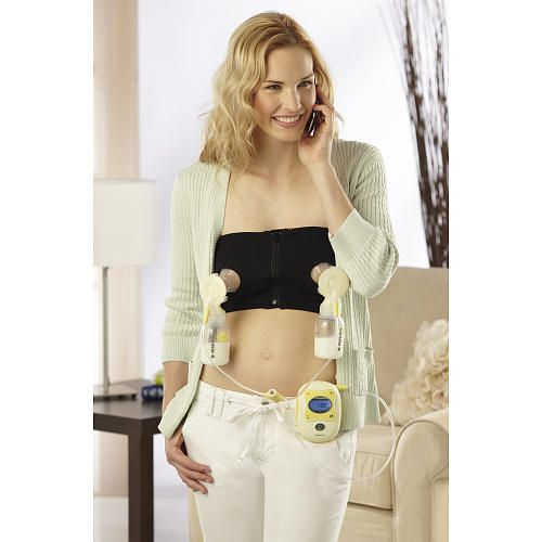 """Medela Easy Expression Bustier - Hands-free pumping made easy! - Medela  - Babies""""R""""Us  I know what your probably thinking- YIKES! But, if you are planning on nursing you most likely will have to pump at some point. This is super comfy, convenient and I highly recommend. I bought a size up from my normal shirt size and it worked out very well. I used mine for 8 months."""