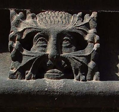 green man at chester cathedral