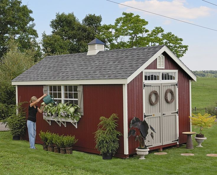 Amish colonial williamsburg garden shed panelized kit for Garden shed pictures