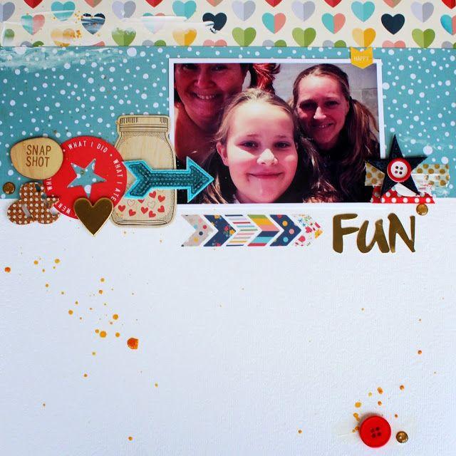 "Andrine og Marens Landhandleri - Blog - ""FUN"" layout created by Dt Bente."