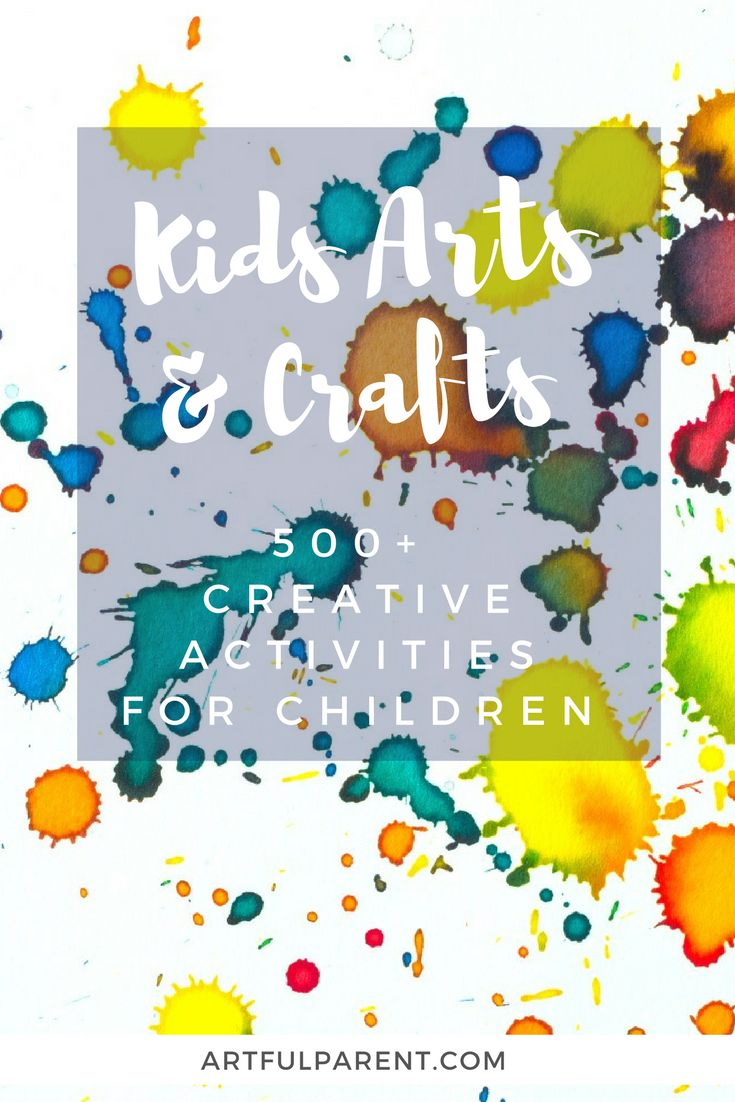 Over 500 kids arts and crafts activities! Painting techniques, sculpture projects, drawing and collage ideas, suncatcher crafts, and more!