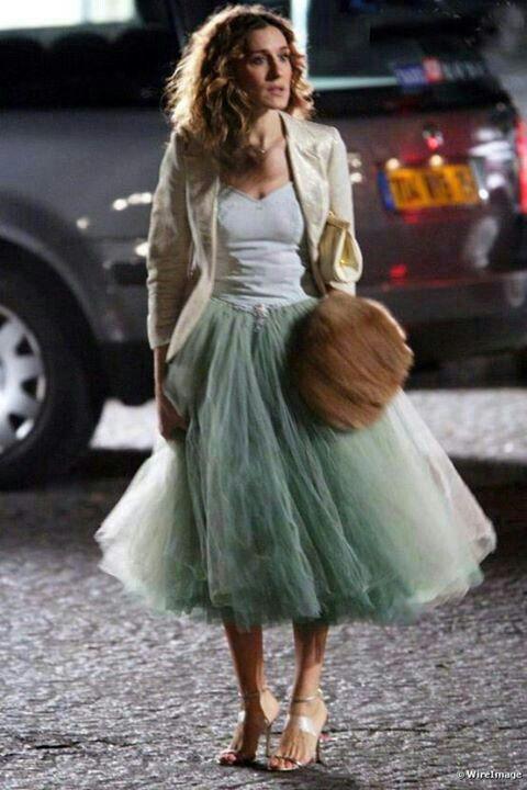 Falda tul verde carrie