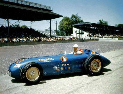 1955 Kurtis Kraft KK500C Offy (serial # 552-54, built in 1954)  #4 Lindsey Hopkins - Billy Vukovich driver 25th at Indy