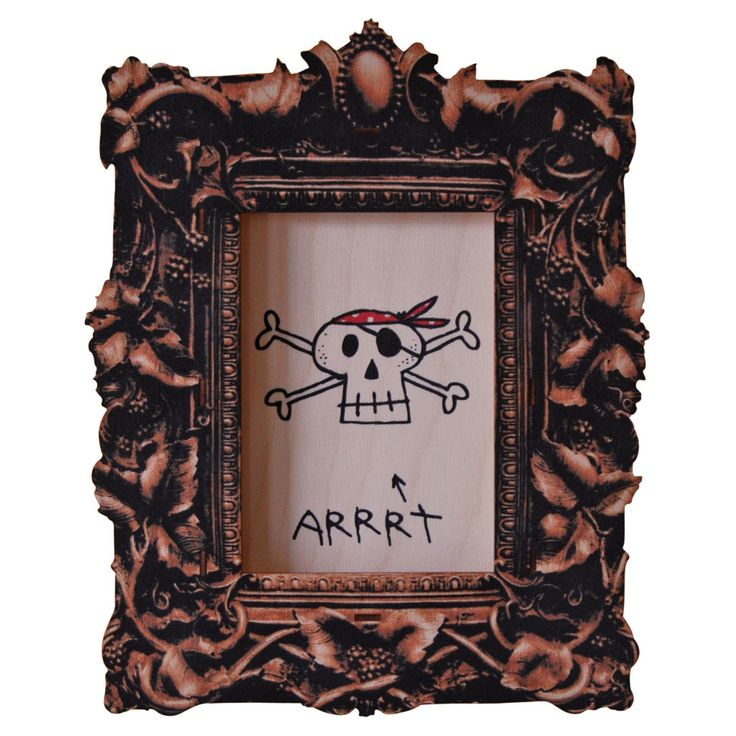Pirate Art. Fun wood wall art from Paul Ocepek with a cool 3D pop out effect.