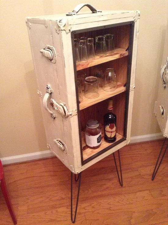 Warum den koffer nicht zur minibar umstylen obi upcycling pinterest mini bars be - Upcycling ideas for furniture ...