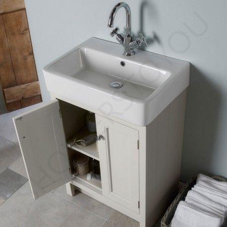 Roper Rhodes Hampton Chalk White 530mm Countertop Vanity Unit with Basin