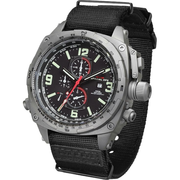 Exchange Online Store [C213] - Product: Men's Sandblast Gray Cobra Titanium Chronograph w/ Neoprene Strap