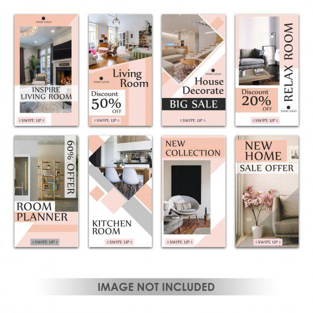 Instagram Story Or Vertical Banner For Furniture Sales Interior