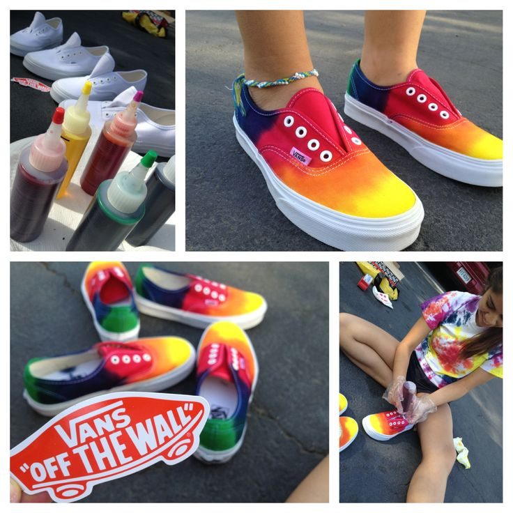 DIY tie dye vans-what I'm doing this summer:)
